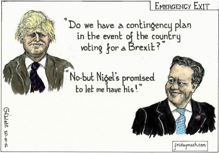 Brexit Emergency Exit Cartoon News